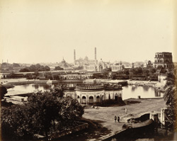 Husainabad. The octagonal tank & surroundings [including the Satkhanda], Lucknow.
